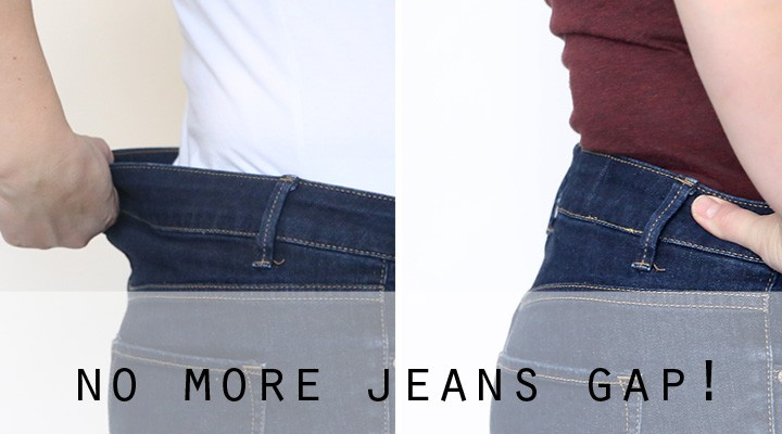 how to fix your jeans waistband {no more jeans gap!}