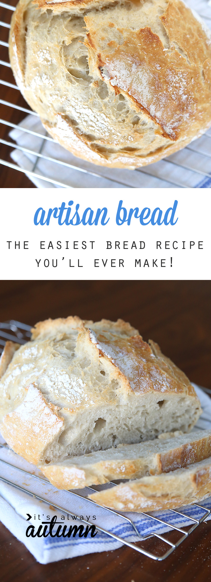 homemade artisan bread {easiest bread recipe EVER!} - It's Always ...