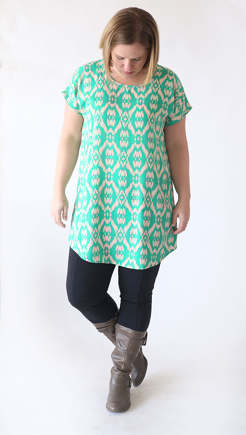 The Breezy Tee Tunic Free Sewing Pattern It S Always