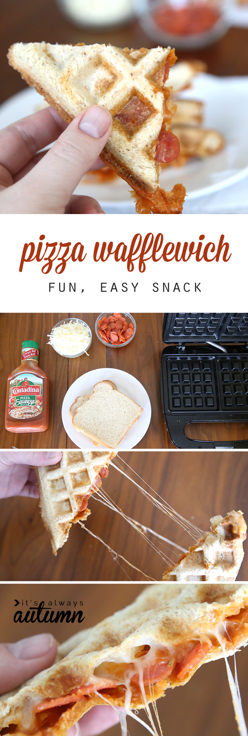 Pizza Wafflewich {easy Recipe Kids Can Make}