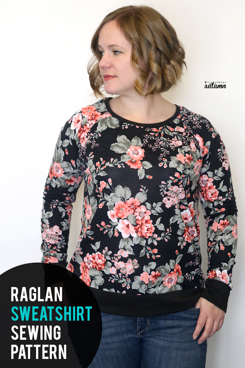 Learn how to make an adorable sweatshirt with this free raglan sweatshirt pattern and tutorial.
