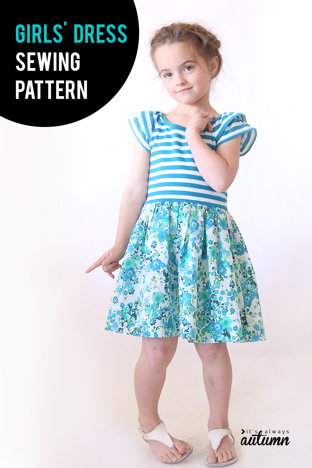 Cute girls' dress pattern and sewing tutorial!
