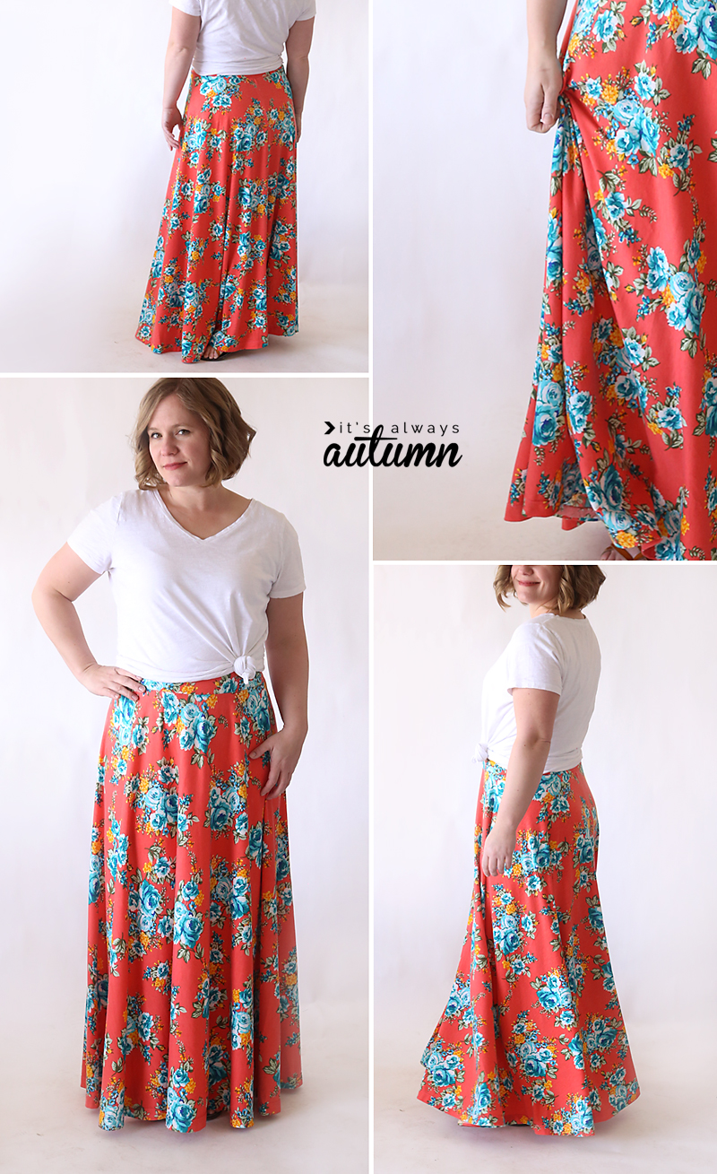 Half Circle Maxi Skirt Easy Sewing Tutorial It S Always