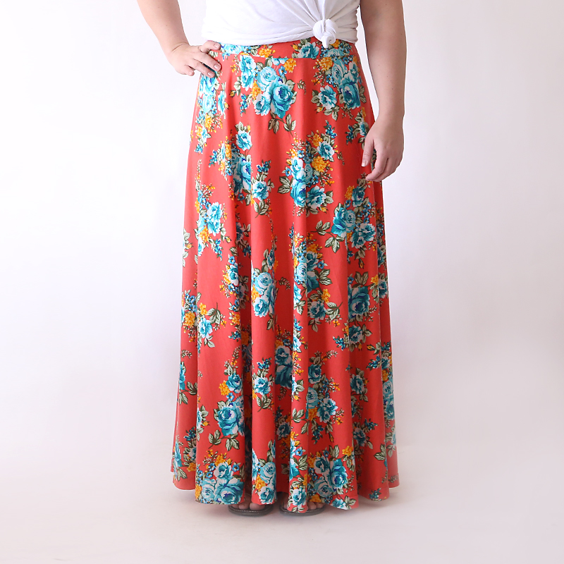 half circle maxi skirt | easy sewing tutorial - It\'s Always Autumn