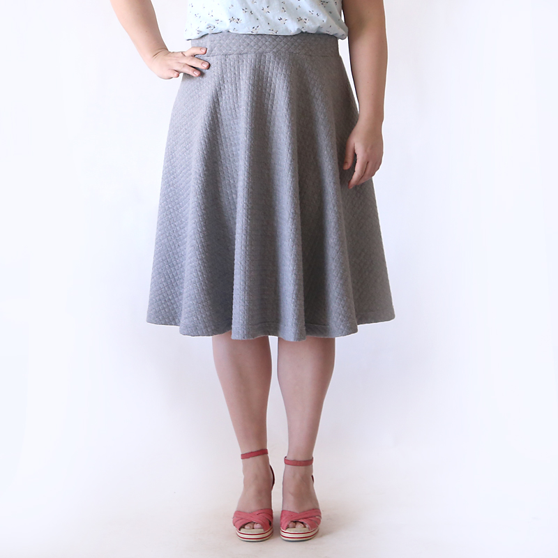 Easy half circle skirt sewing tutorial – make a pattern in any size!