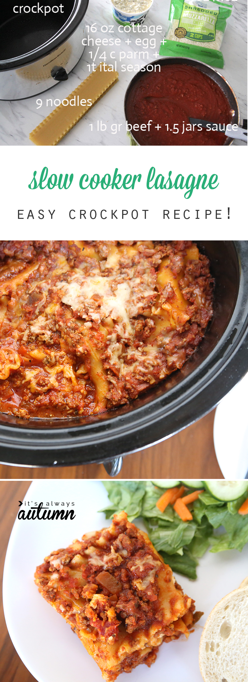 Did You Know You Can Make Lasagne In The Crockpot? Itu0027s Super Easy And  Tastes