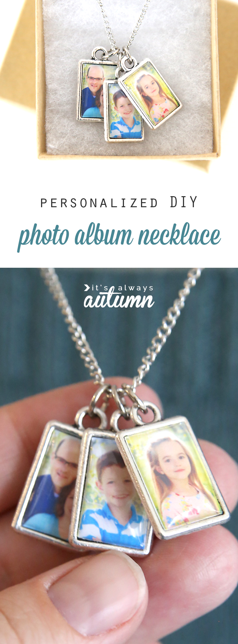 Diy Photo Album Necklace Perfect For Mother 39 S Day It