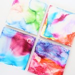 easy pen & alcohol tile art for kids
