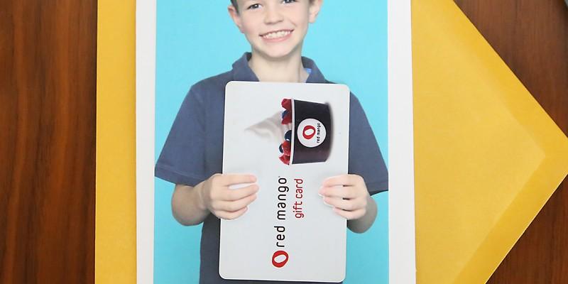 photo gift card holder | fun teacher appreciation idea
