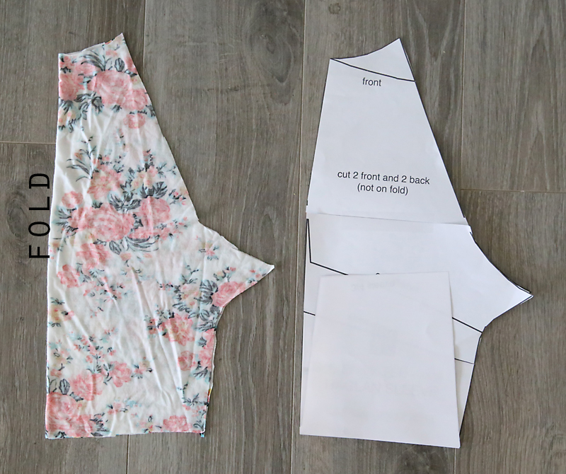 Learn how to make this easy to sew swing dress (perfect for summer!) using a free tee shirt pattern.