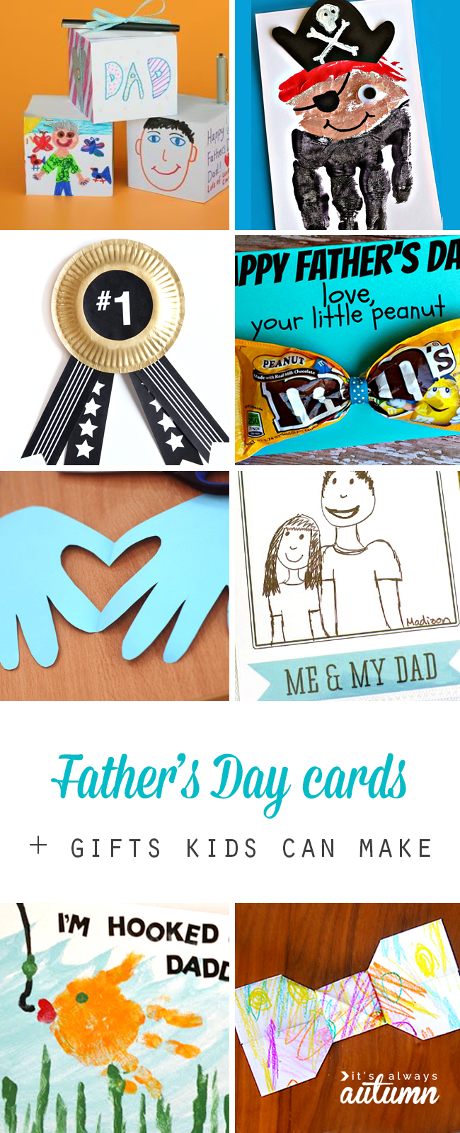 20 Father's Day cards and gifts that kids can make. Fun, easy, and cheap gifts and cards kids can make for Dad