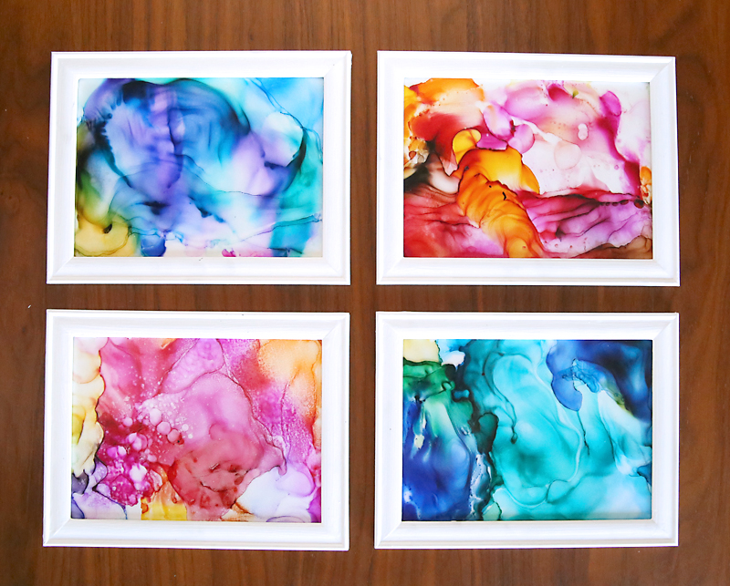 How to make gorgeous fired alcohol ink art it 39 s so easy for Easy diy arts and crafts