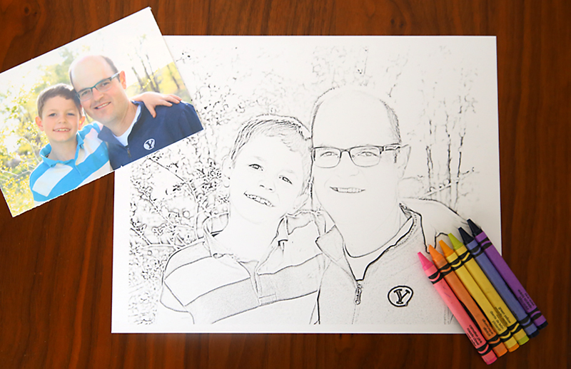 This Is Completely Awesome You Can Turn Any Photo Into A Personalized Coloring Page For
