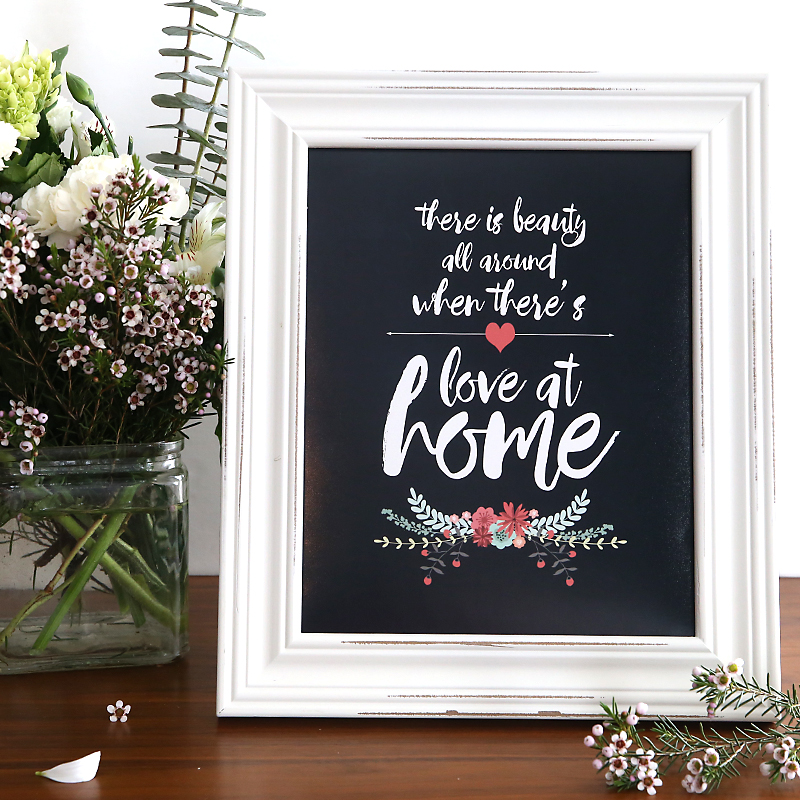 """love at home"" free quote printable"