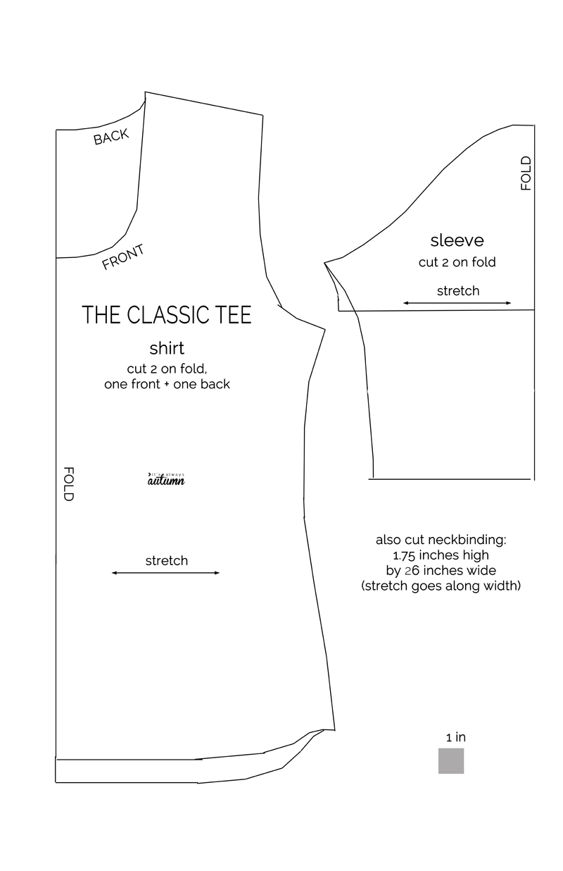 The classic tee free pattern in women size l its always autumn learn to make a classic tee with this easy womens sewing tutorial and free pattern in jeuxipadfo Choice Image