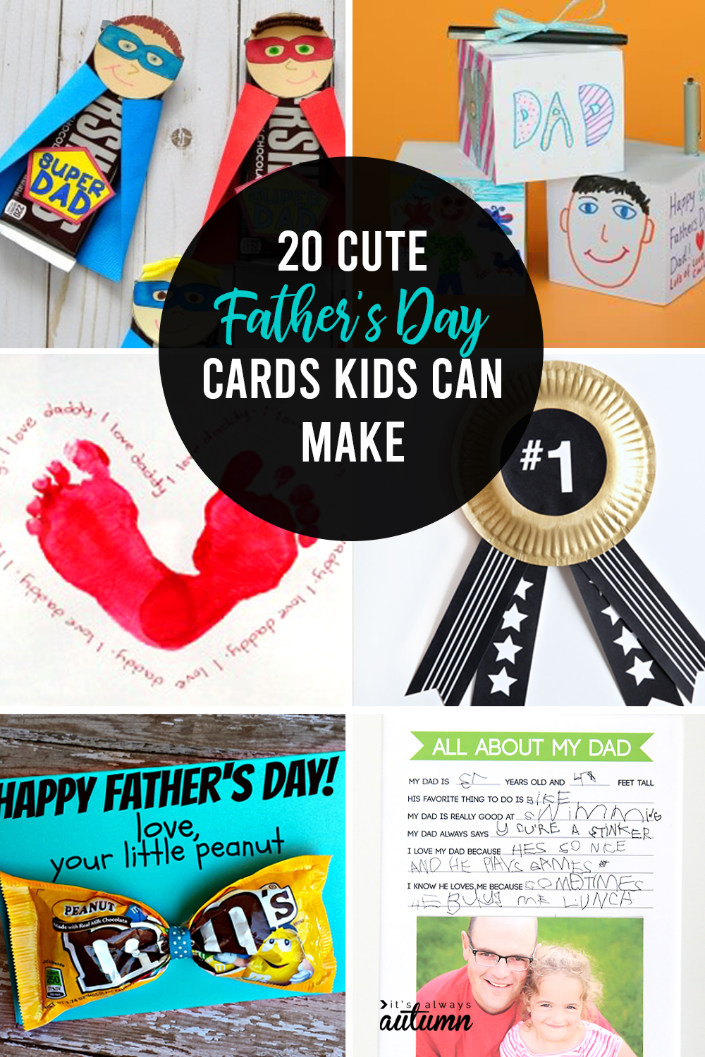 20 adorable fathers day card ideas for kids to make its always