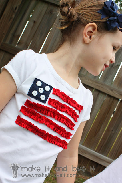 13 fun DIY tee shirts for the Fourth of July. 4th of July shirts you can make with the kids - these are cute!