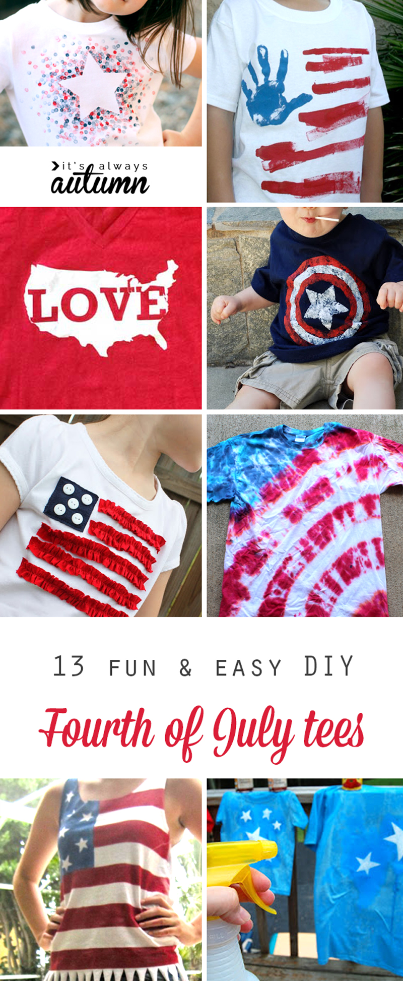 13 Fun Shirts To Make For The Fourth Of July It S Always Autumn