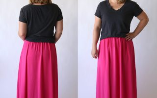 the everyday maxi skirt | easy sewing tutorial