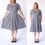 sew the perfect knit fit & flare dress (without a pattern!)