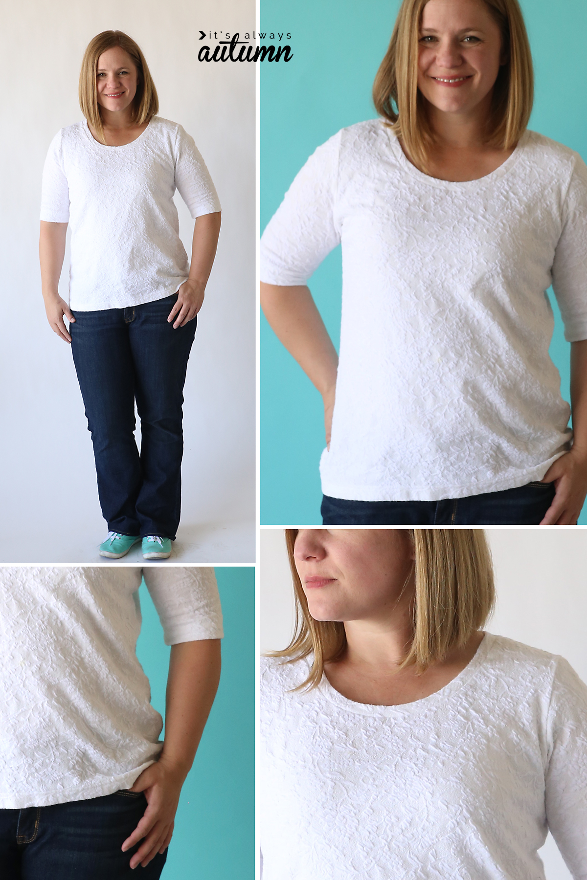 the classic tee free pattern | elbow length sleeves - It's Always Autumn