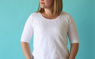 the classic tee free pattern | elbow length sleeves