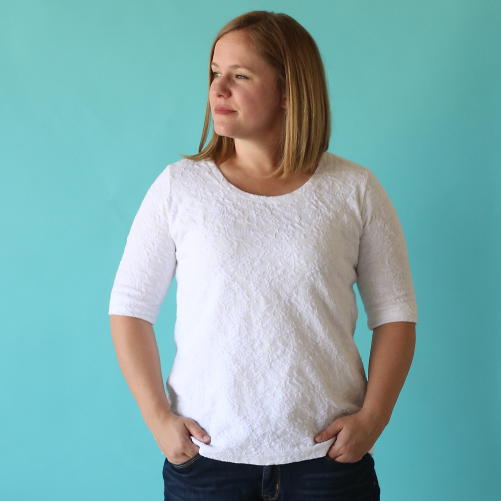 6db240830 Get the free sewing pattern for a classic tee shirt and learn how easy it is
