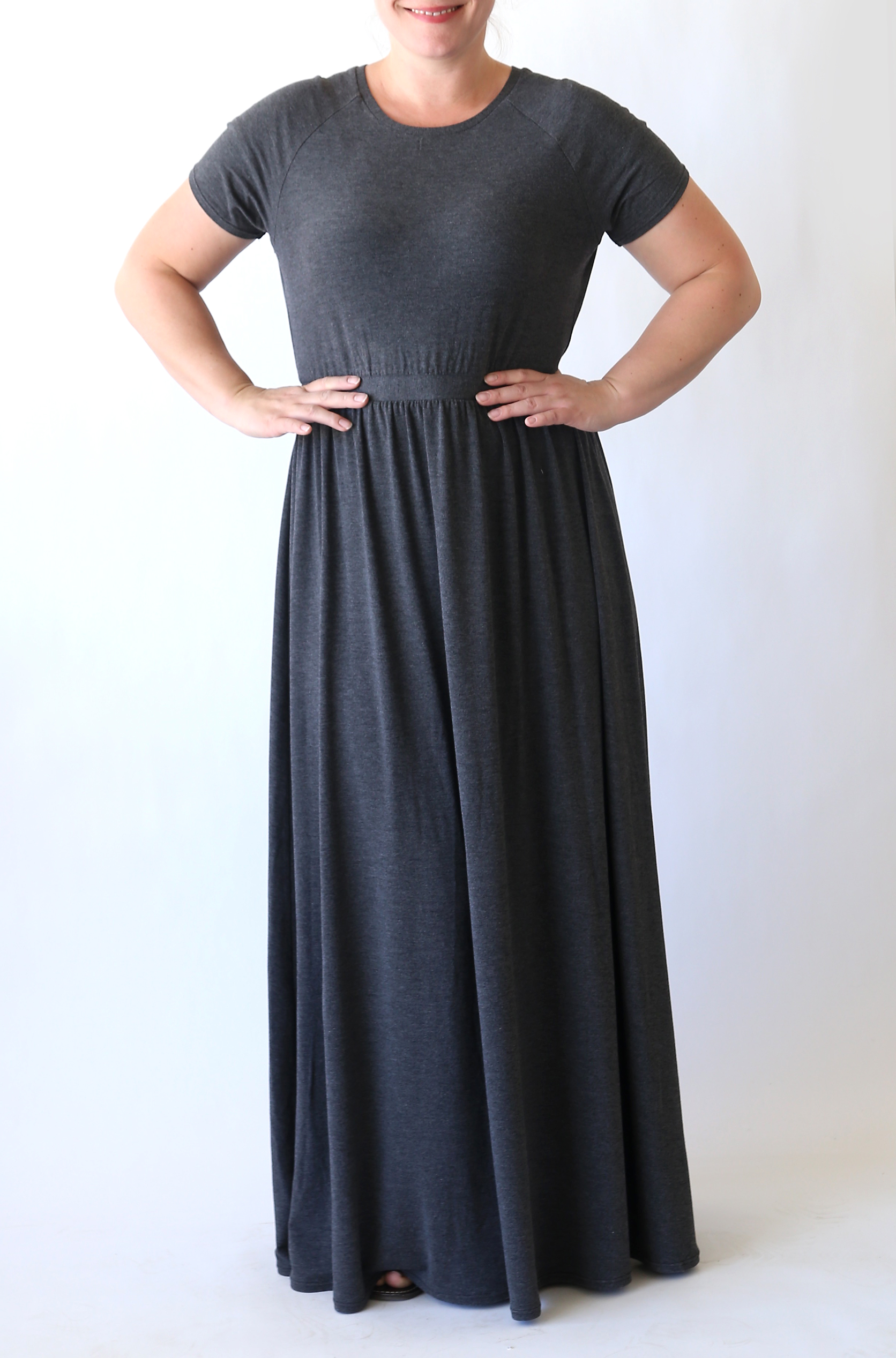 How To Sew A Raglan Tee Maxi Dress Sewing Tutorial Its Always