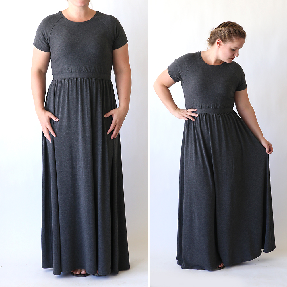 How to sew a raglan tee maxi dress | sewing tutorial