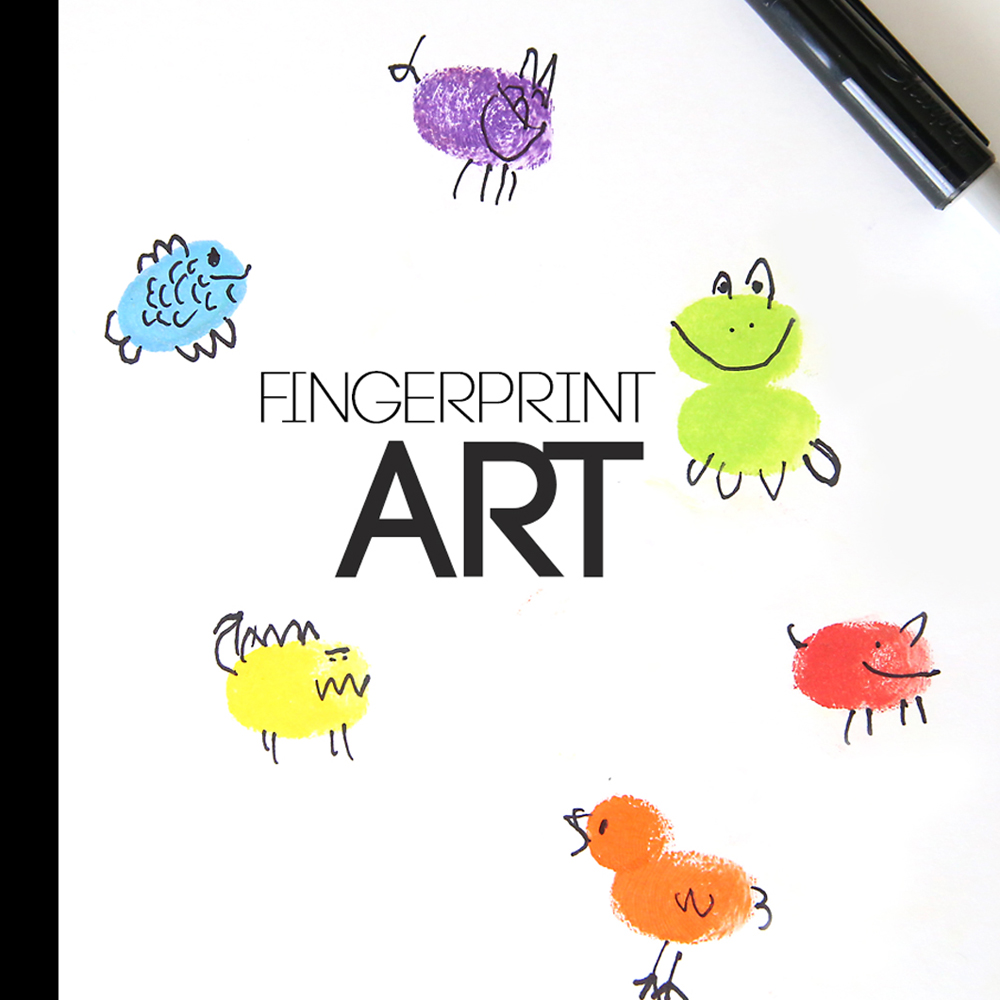fingerprint art | fun & easy craft for kids