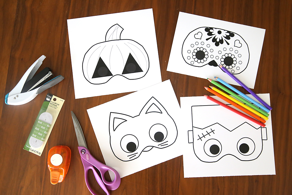 what a great idea for classroom halloween parties free printable halloween masks that kids can - Free Printable Art For Kids