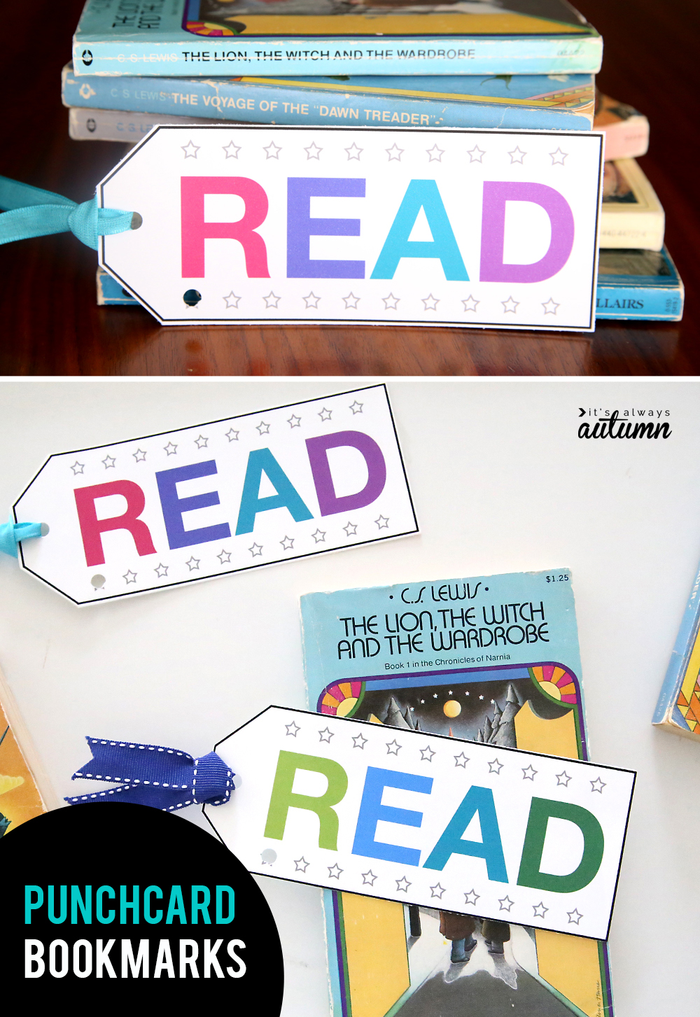 These printable punchcard bookmarks are a great way to track and encourage reading minutes!