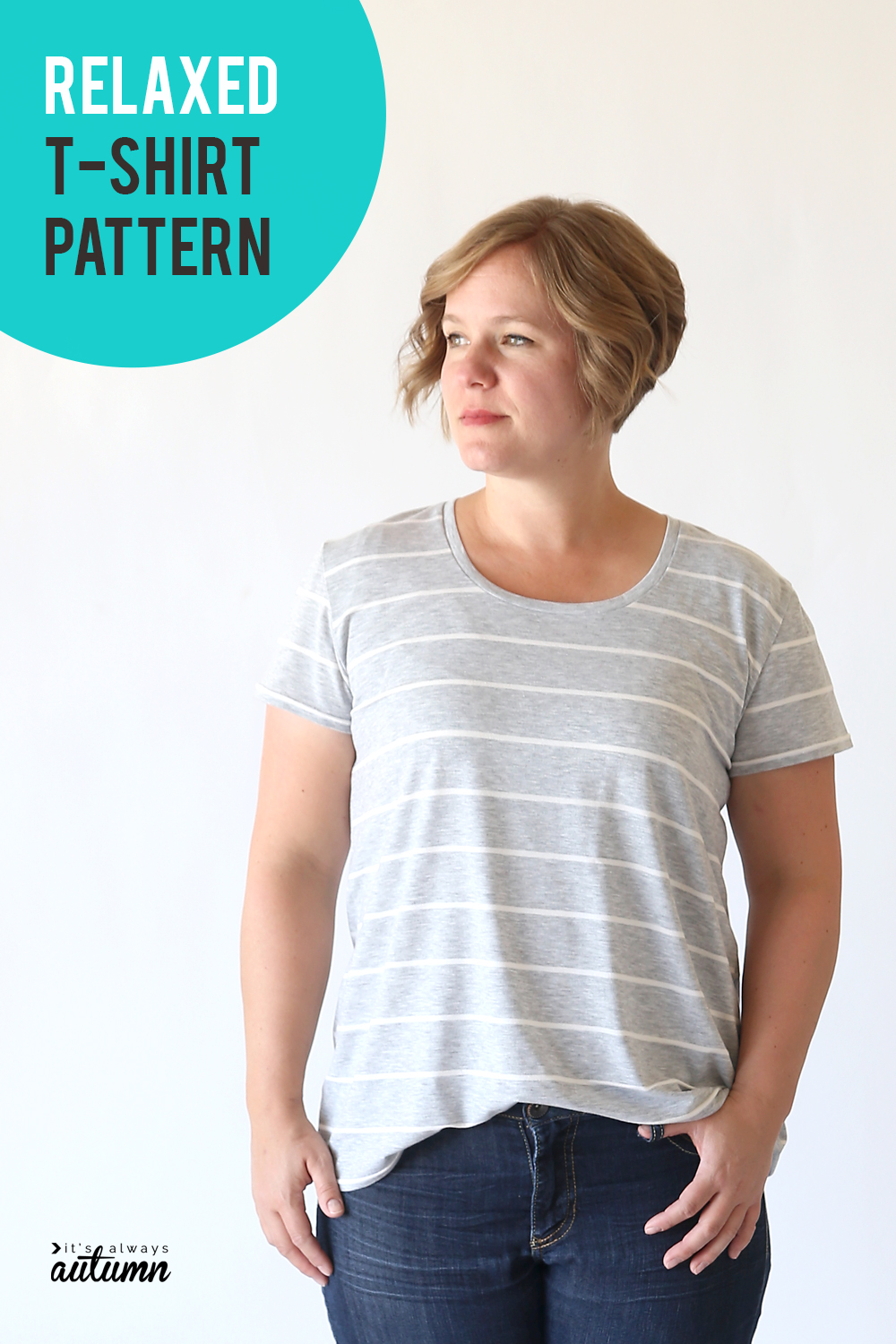 The Clic Tee In A Relaxed Fit Easy Sewing Tutorial
