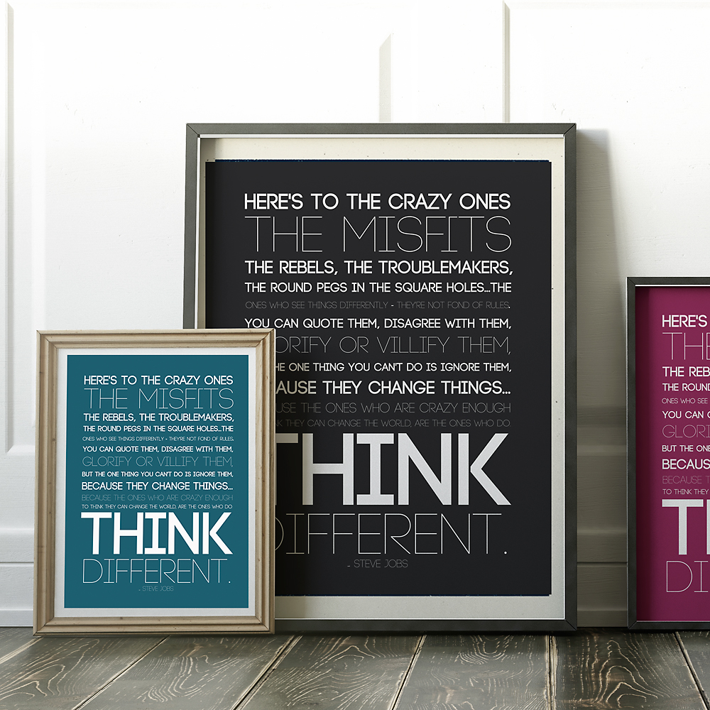 "Steve Jobs ""crazy ones"" quote 