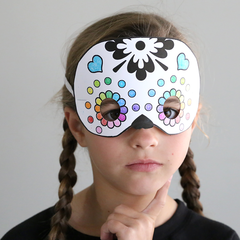 It is a picture of Playful Halloween Mask Printables