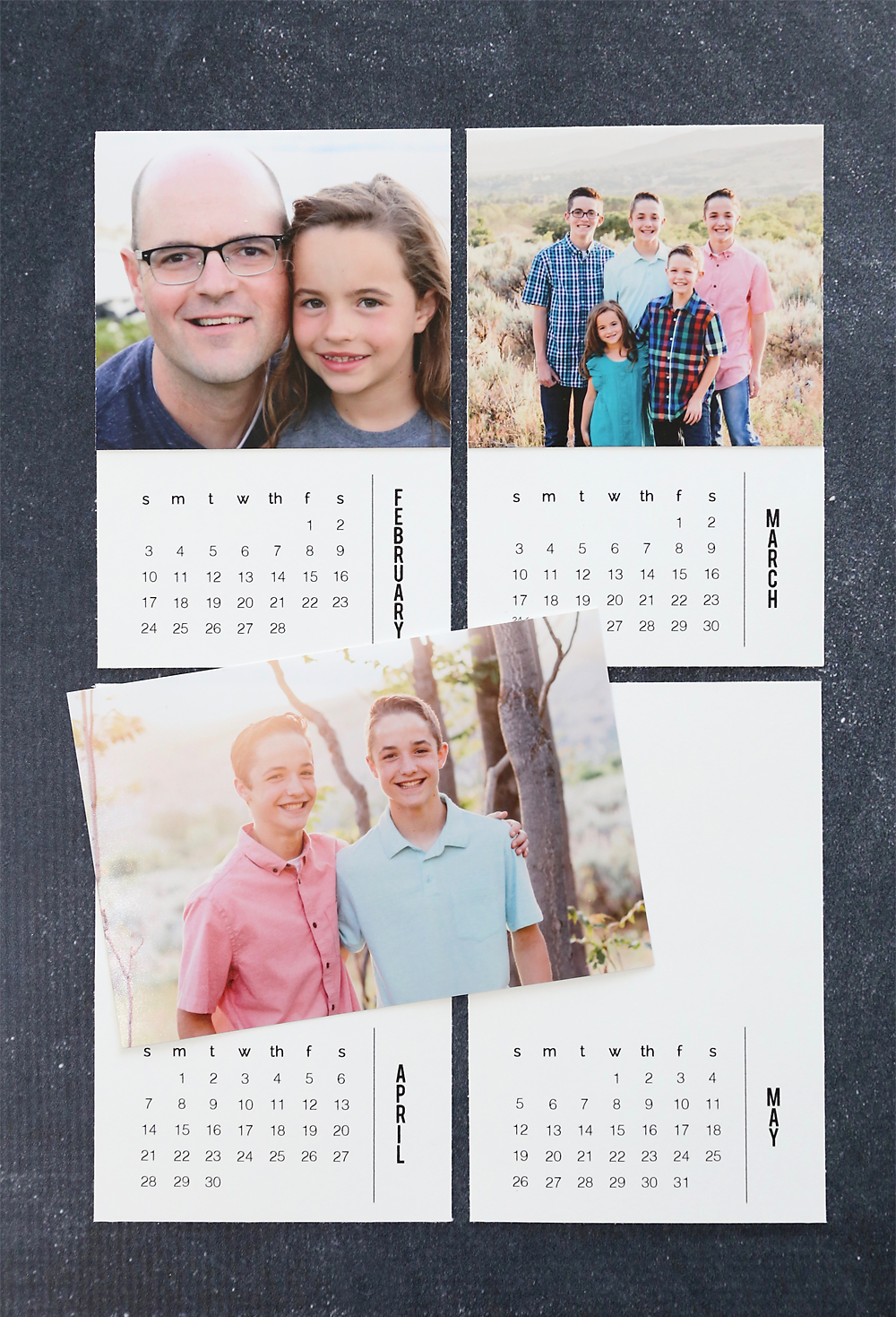 diy mini photo calendar w free printables it s always autumn