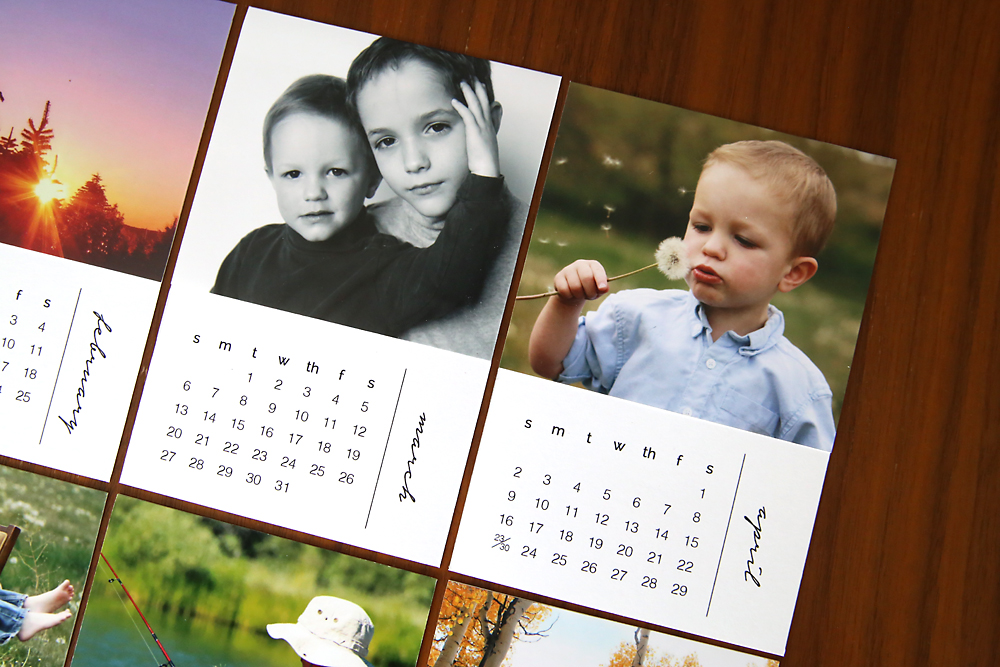 Diy Family Calendar : Diy mini photo calendar w free printables it s always autumn