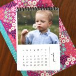 DIY mini photo calendar w/free printables