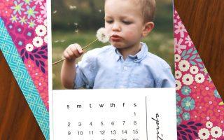 DIY mini photo calendar w/free printables