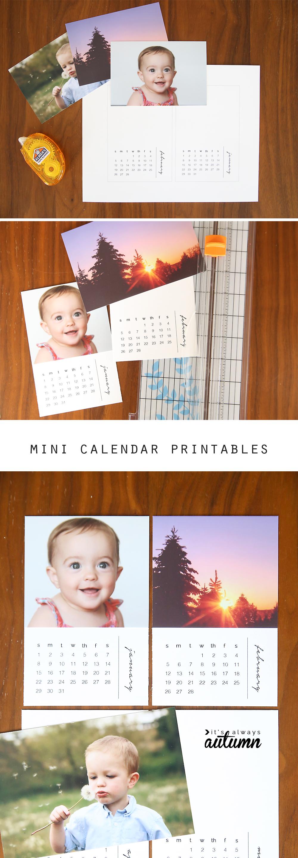 Diy Mini Calendar : Diy mini photo calendar w free printables it s always autumn