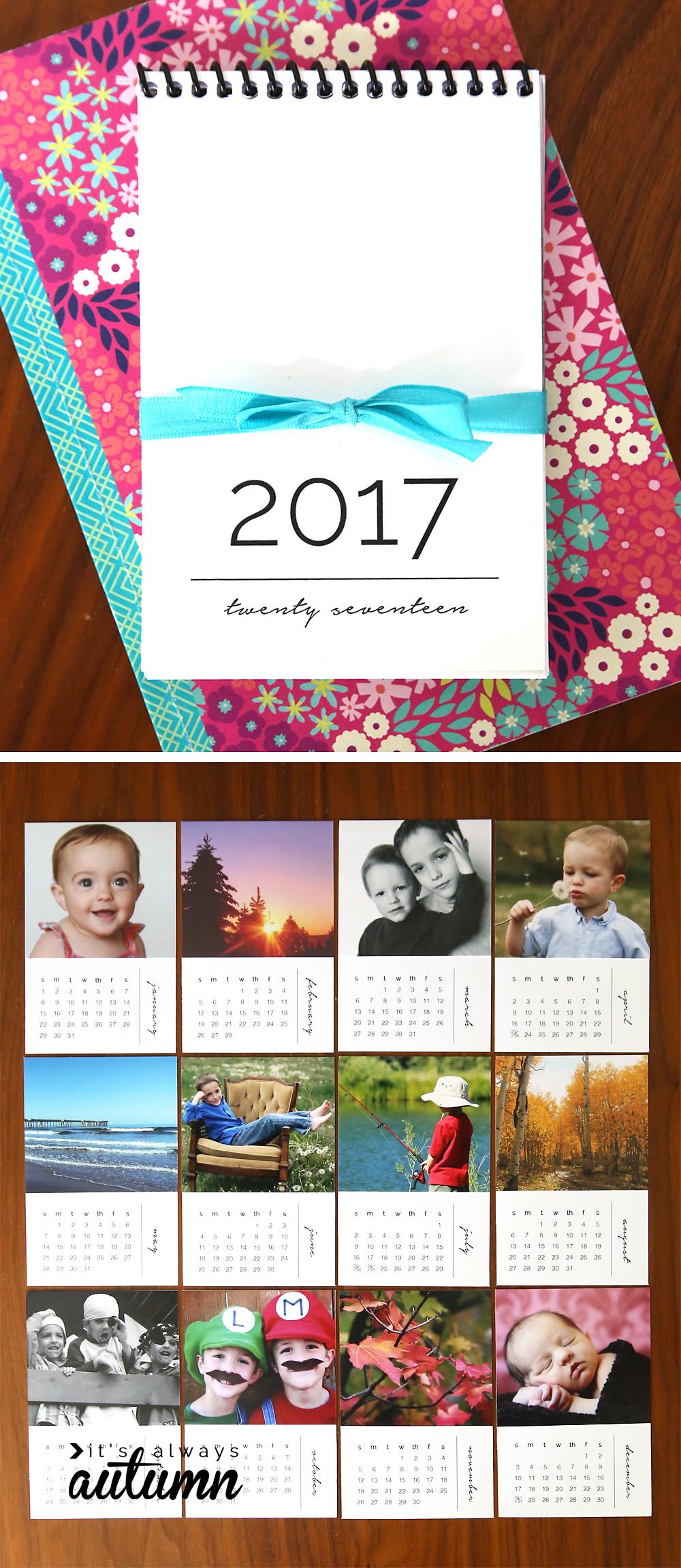 Mini 2017 photo calendars