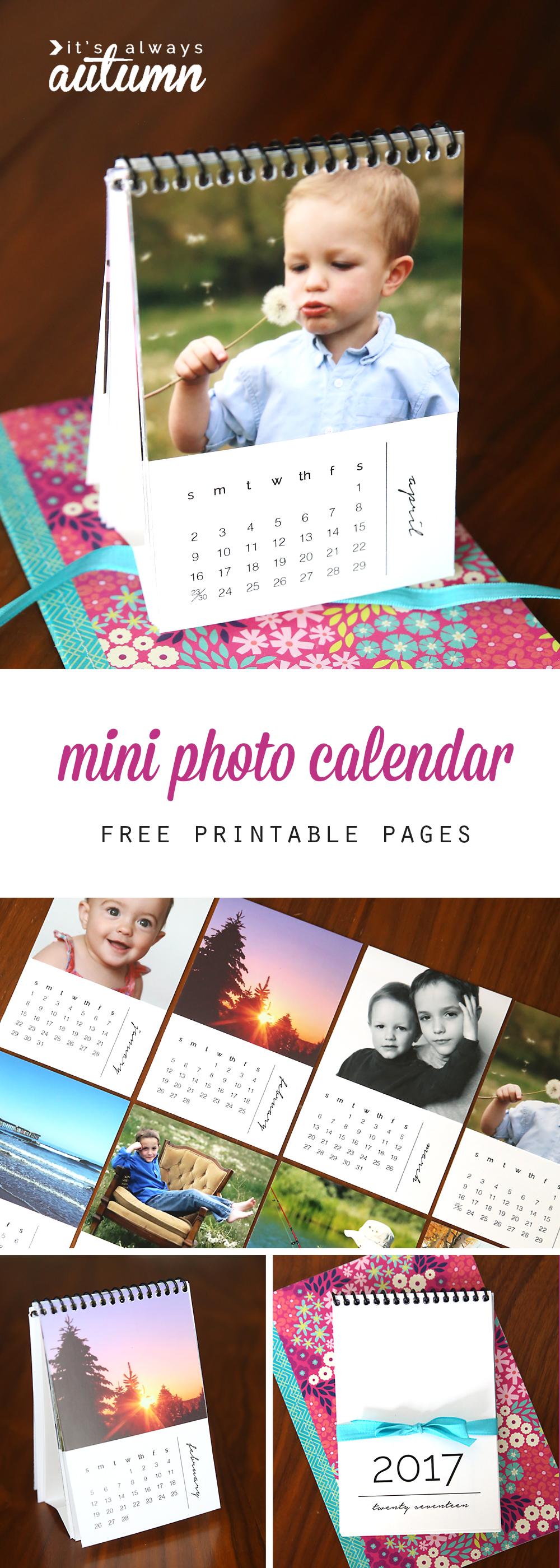 Year Calendar Diy : Diy mini photo calendar w free printables it s always autumn