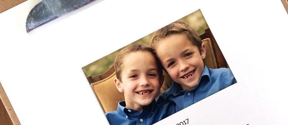 free printable 2017 photo calendar {easy DIY gift}