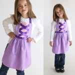 free sewing pattern for Rapunzel dress up apron