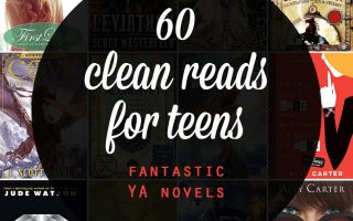 Great list of clean reads for teens! 60 fantastic young adult novels your teenager will want to read. YA book list.