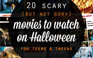 scary {not gory!} Halloween movies for teens & tweens