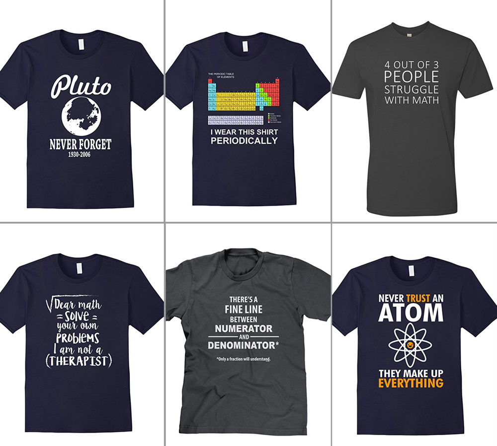 Huge list of funny t-shirts for teenagers, men, or anyone else who's hard to shop for. Great Christmas gift ideas for teens. Funny tee shirts.