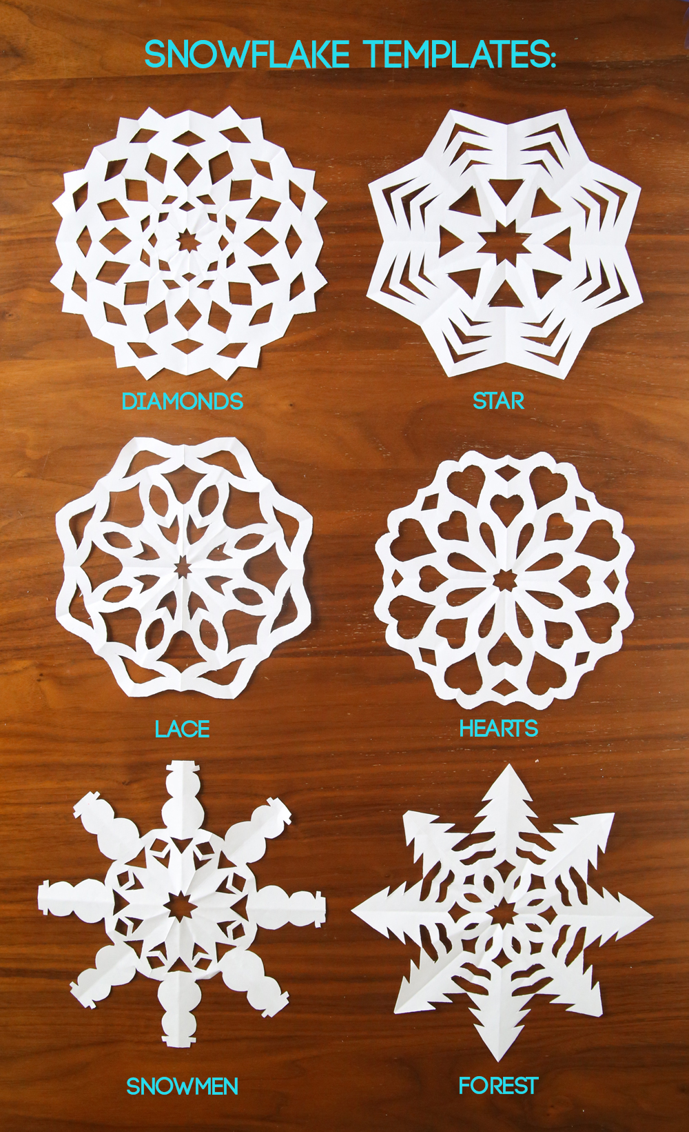 how to cut snowflakes {video tutorial + free templates} - It\'s ...
