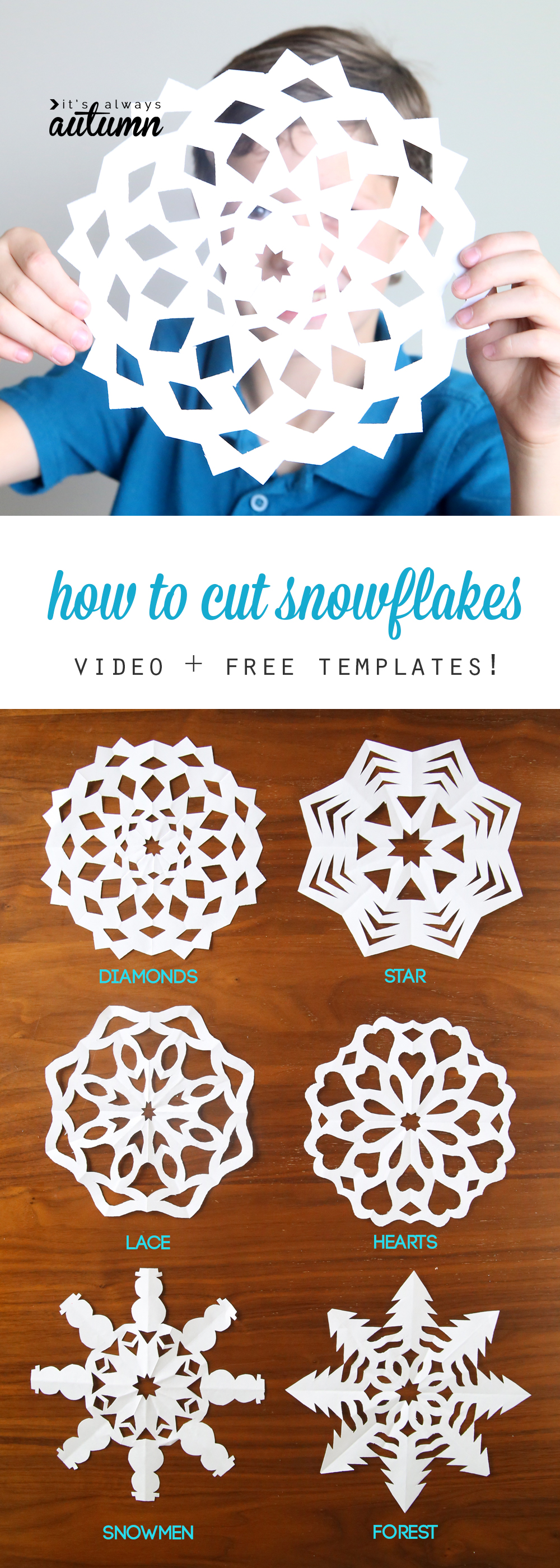 How to cut snowflakes video tutorial free templates for How to make winter crafts