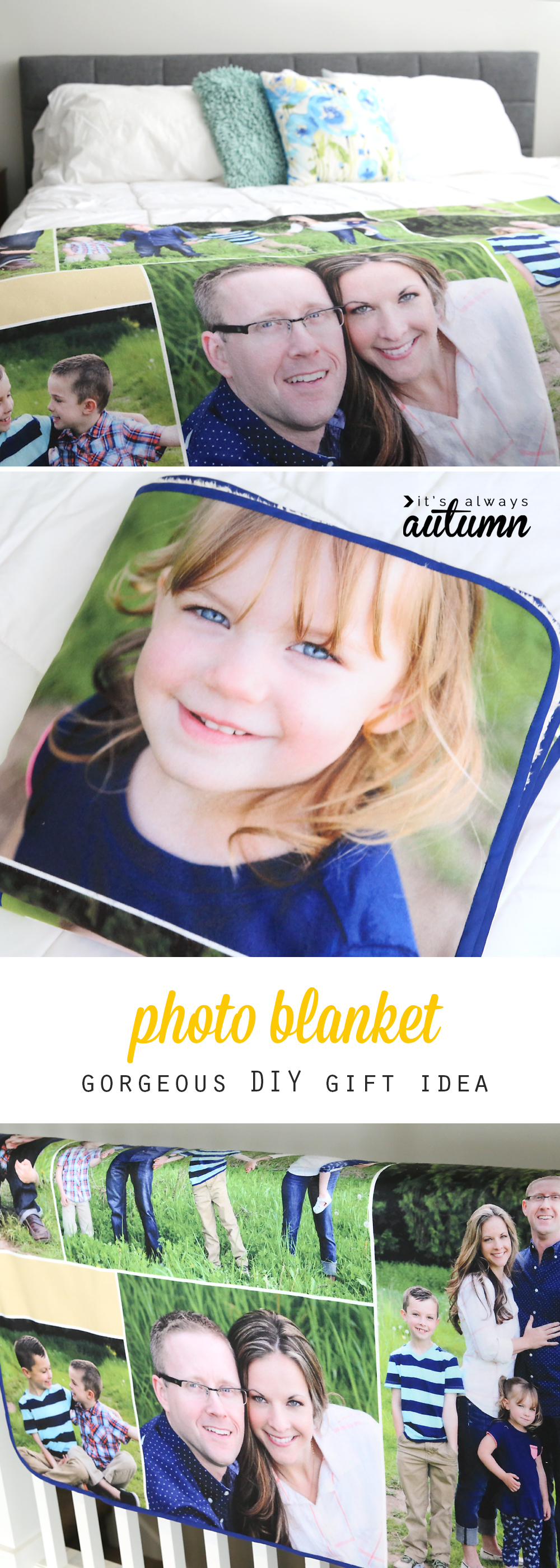how to make a photo collage blanket diy gift idea it s always autumn
